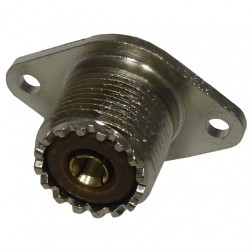 83-876 UHF Female Chassis Connector, 2 Hole Flange, Solder Cup,