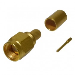 901-9511-2  SMA Male Crimp Connector, Straight, Hex Nut (Industrial Grade), Cable Group: C, Amphenol/RF