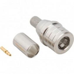 930-120P-51S QMA Male Crimp Connector, Cable Group C, Amphenol