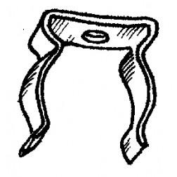 "AC1 - Anode clip for 4cx150a-400a O.565"" /11 mm typ. diameter"