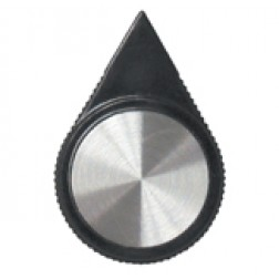 KNOB1A Knob, Black w/Arrow Pointer