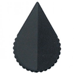 KNOB1K Tuning knob black .71 x .61, Arrow pointer