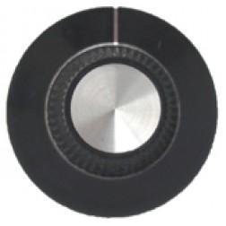 KNOB2E Tuning knob, black w/skirt