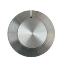 KNOB2H Tuning knob, brushed aluminum w/skirt and slot pointer