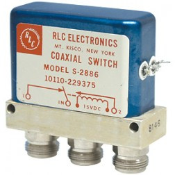 S2886 Coaxial Relay switch, SPDT, 3 Type-N Females, RLC (NOS)