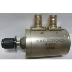 A-2190 Attenuator, Rotary, BNC Female / Female, 0-10dB, 1dB Steps, 1 Watt, DC-1 GHz,  RLC (Used Condition)