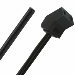 "A2-20 Fan Power Cord, 24"" with 45 Degree Angle, Qualtek"