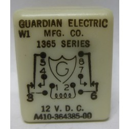 A410-364385-00  Relay, 1365 Series, 12vdc, Guardian