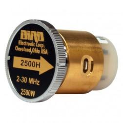 BIRD2500H  Bird Wattmeter Element, 2-30 MHz, 2500 Watt, Bird