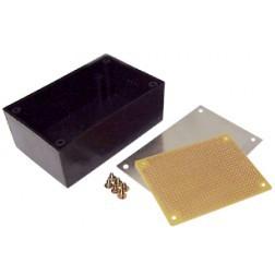 """BOX8924 Plastic project box W/Aluminum top, 5.25"""" x 3.25"""" x 1.5"""""""