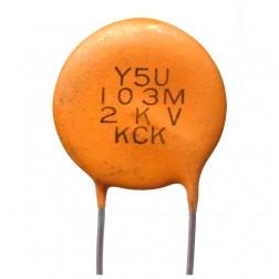 C103-2KV Capacitor, disc .01uf 2kv