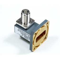 C137CNSG Waveguide Flange 5.85-8.2 GHz CPR137G to N-Female Transistion, Gray