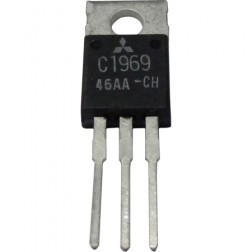 2SC1969 NPN Epitaxial Planar Transistor, 27 MHz, 12 V, 16 W, Mitsubishi