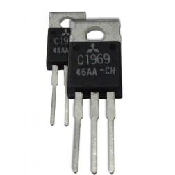 2SC1969  NPN Epitaxial Planar Transistor, 27 MHz, 12 V, 16 W, Matched Pair, Mitsubishi