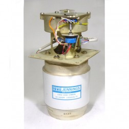 CVDG-1000-15N808  Vacuum Variable Capacitor, 10-1000pf, 15kv, Jennings (Clean Used w/Gear Drive system)