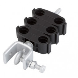 DHK-12-6-P  Double Hanger Kit for 1/2 in coaxial cable, triple stack; includes hardware and angle adapter; Andrew
