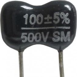 DM15-100 - 100pf 500v Mica Capacitor (cut leads)
