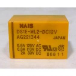 DS1E-ML2-DC12V Relay,12v 2-coil, latching. : matsushita