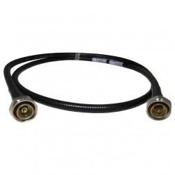 F4A-PDMDM-1M-1  1m (3.3 ft) FSJ4-50B W/7/16 DIN Male Connectors Installed, PIM Certified