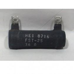 FST25-36  Wirewound Resistor, 36 ohms 25 watts, HEI