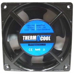 G12038MAB  Axial Fan motor, 115vac 220 ma, 85 cfm, ThermoCool (Rohs)