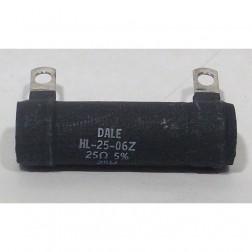 HL25-06Z-25 Wirewound Resistor, 25 ohm 25w, 5%, Dale