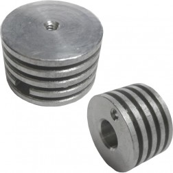 HR6-TALL Plate Cap Finned plate cap 3-500/4-400