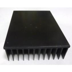"HSBLK5 Heatsink,  Black Anodized Aluminum, 5"" x 7"""