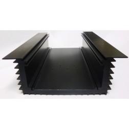 "HSBLKU7.5-2 Heatsink, Black Anodized Aluminum, 4-5/8"" x 7.5"" x 2"" U-Shape"