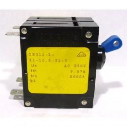 IEG11-1-61-10.5  Circuit Breaker, Dual AC, 10.5a, Airpax