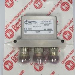 402A-2253  Coax Relay, SPDT, 12v, Dow Key (NOS)