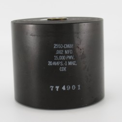 2550-CM88, Capacitance .002mfd, Voltage 15kv, Amps 20, Type CM88(NOS)