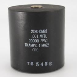 2280-CM81, Capacitance .001mfd, Voltage 10kv, Amps 10, Type CM81(NOS)