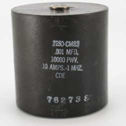 2280-CM83, Capacitance .001mfd, Voltage 10kv, Amps 10, Type CM81(NOS)