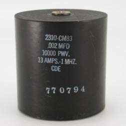 2310-CM83, Capacitance .002mfd, Voltage 10kv, Amps 13, Type CM81(NOS)