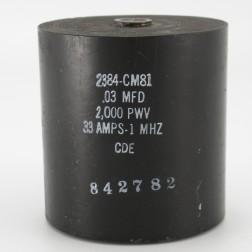 2384-CM81, Capacitance .03mfd, Voltage 2kv, Amps 33, Type CM81(NOS)