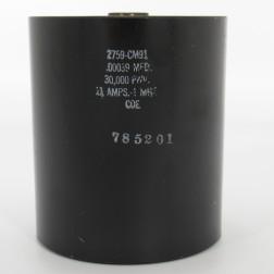 2759-CM91 Cornell Dubilier Capacitor .00039mfd, 30kv, 11 Amps, Type CM91 (NOS)