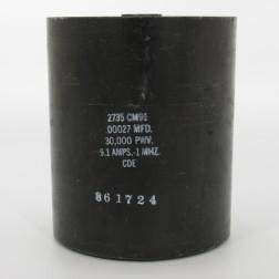 2735-CM91, Capacitance .00027mfd, Voltage 30kv, Amps 9.1, Type CM91(NOS