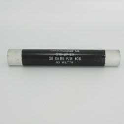 218SP-28 Carborundum 60 Watt,50 Ohm Non-inductive Ceramic Resistor (Pull)