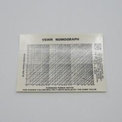 "88806-S  VSWR Nomograph, Laminated Sticker 4.75"" x 3.5"", Coaxial Dynamics"