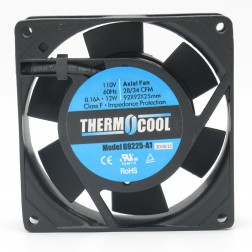 G9225HAS  Thermocool AC Box Fan, 0.14a, 13w, 28/34cfm