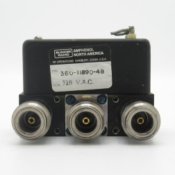 360-11890-48 Amphenol SPDT Coax Relay, 115vdc Type-N Female. NSN 5985-00-869-3763 (Used Great Condition)