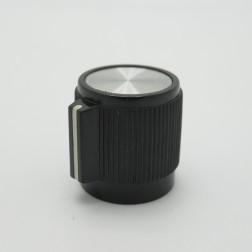 KNOB1F Tuning knob, Black w/Chrome Center .7 x .735, TRA70E22, Raytheon