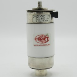 CV05C-500I/5 Comet 5KV 5.6-500pF Vacuum Variable Capacitor (Used Excellent Condition)