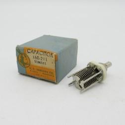 160-211-1 E. F. Johnson Variable Capacitor, Panel Mount, 2.7-10.8 pf, 11M811 (NOS)