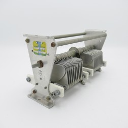 "1623  Bud Variable Capacitor, 2 section 20-250pf 2.4kv 0.08"" gap 21 plates  (Pull)"