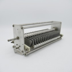 """153-13 Johnson Variable Capacitor 45-244pF 4000v 37 plates 0.175"""" spacing (Used, Great Condition)"""