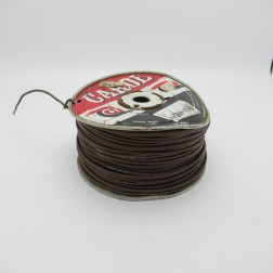 18 AWG 1/32, 16 Strand Carol Cable Compnay Bare Copper, 600V Hook-up Wire (Brown Jacket)