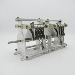 """AMT  National Variable Capacitor 15-55pf 8kv 0.18"""" gap 18 plates (Pull)"""