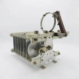 """CX50C Barker & Williamson Variable Capacitor, Butterfly, 25-55pf 15kv 0.5"""" gap 12 plates w/add on items (Used, Great Condition)"""